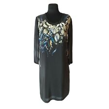 REISS 1971 Silk Dress with Long Sleeve Knee Length With Floral Print UK 6 USA 2