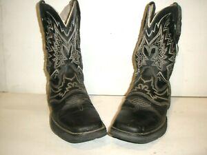 "WOMENS DURANGO LADY REBEL 10"" BLACK LEATHER WESTERN COWBOY BOOTS SIZE 9.5 9 1/2"