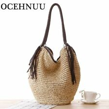 Beach Bag Women Summer straw Shoulder Bag Handbag Casual Tote Tassels