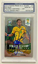 Brazil Neymar Signed 2014 Panini Prizm World Cup #7 PSA DNA GEM MT 10 ITP AUTO