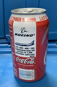 Rare Boeing Coca Cola Can 1988 planes EMPLOYEE ONLY Full Nice