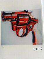 ANDY WARHOL- Gun. Litografia Ed. limitada 125 ejemplares. COA