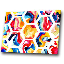 Yellow Pink White Orange Abstract Canvas Wall Art Large Picture Prints