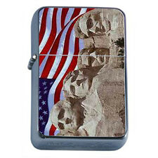 Windproof Refillable Oil Lighter Vintage American Flag D9 Patriotic Stars Honor