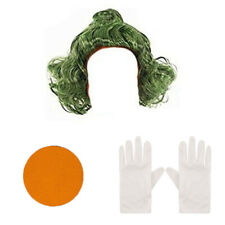 CHILDRENS KIDS FACTORY WORKER FANCY DRESS WIG / PAINT GLOVES WORLD BOOK DAY