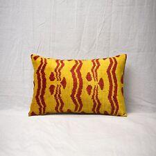 """14"""" x 21"""" Pillow Cover Velvet Ikat Pillow Cover Free Shipment UPS 01218"""