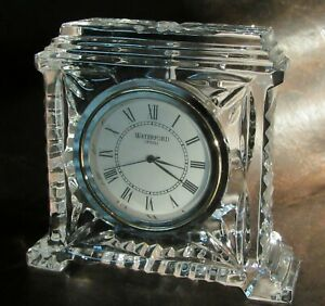 Waterford Coliseum Sm. Clock Mint, Working