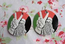 Boucles d'Oreilles Palestine Libre Jerusalem Al Quds Drapeau Israel Keffieh