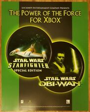Star Wars Starfighter & Obi-Wan Promotional Marketing Poster 22×28 XBOX