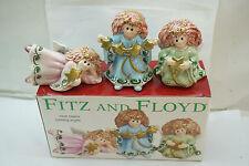 Fitz And Floyd Christmas Angel Figurines Moon Beams Tumbling Angels Set 3 Mib