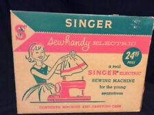Vintage Singer Sewhandy Electric Small Sewing Machine w/ Case and Box