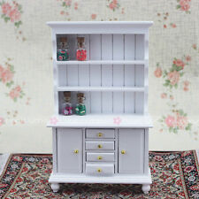 Show Cabinet Kitchen Dining Room Bedroom Cupboard Wood Dollhouse Miniature 1:12