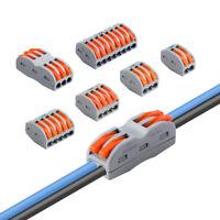 Kabelverbinder Hebelklemmenblock 2/3/4/5/8 Polig Für 28-12AWG Universal 5 Stück