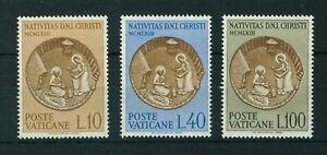 Vatican 1963 Christmas full set of stamps MNH. Sg 413-415