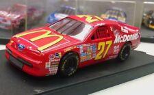 Quartzo 1:43 Diecast NASCAR Hut Stricklin #27 McDonald's Ford Thunderbird w case