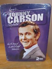 """Johnny Carson """"The King of Late Night Television"""" 2 DVD Set w/Collector Tin~NEW!"""