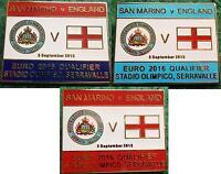 San Marino v England Euro 2016 Qualifier Serravalle 5 September 2015 Pin Badge