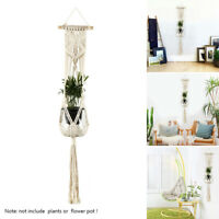 Garden Plant Hanger Macrame Hanging Planter Basket Rope Flower Pot Holder Decors