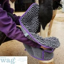 Henry Wag EQUINE Microfibre Noodle Glove Towel effective removal of dirt & water