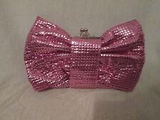 Kitson Pink Sparkle Bow Shoulder Bag NWT