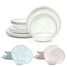 Zak French Country 12-Piece Dinnerware Set Salad Plate Bowl Melamine BPA Free