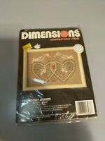 """Dimensions Counted Cross Stitch Kit Friendship Hearts 6568 Sealed 7x5"""" Valentine"""