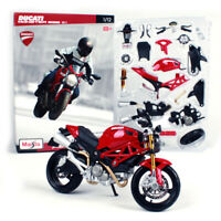 Maisto 1:12 Ducati MONSTER 696 Assemble DIY Motorcycle Bike Model Toy New In Box