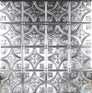 "#103-Tin Ceiling Tiles - Unfinished ""no Coating"" - Nailup, 5 pcs per box"
