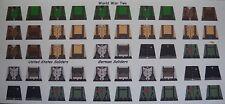LEGO CUSTOM MINIFIG GLOSSY DECAL SET WORLD WAR TWO 25 FIGURE LOT