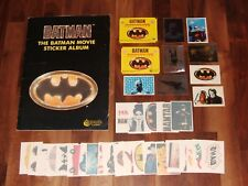 Batman Merlin 1989 Complete Movie Sticker Collection, stickers, packets, & extra