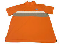 MALIBU CUP Nationals 1937 Size 2XL polo shirt American Tradition Izod Orange Zip