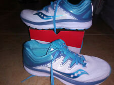 NEW $119 Womens Saucony Guide ISO running shoes, size 9.5    white