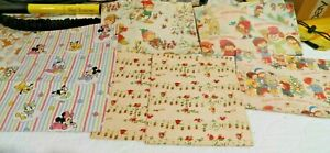"""6 Beautiful Sheets of Vintage Wrapping Paper Five Sheet 40"""" x 30"""" One 30"""" by 30"""""""
