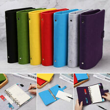 Supplies Fashion Stationery Portable Diary Ring Binder Felt Notebook Felt Shell