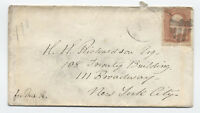 1860s 3 cent 1861 #65 Cambridge MA shield fancy cancel on cover [y2942]