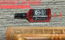 4 x 1/6 Bottle Whiskey Alcohol Toy For Hot Toys Phicen Kumik Figure Use ☆USA☆