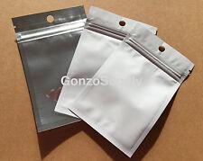"""100PC White Clear 3x5"""" Mylar Zip Lock Bags-Merchandise Crafts Storage Spice"""