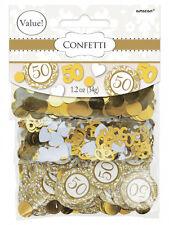 3 sacchetti assortiti 50th ANNIVERSARIO Golden Wedding Party Coriandoli Tavolo Decorazione