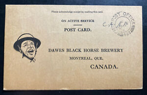 1942 Canadian Army Overseas Field Post 483 Postcard  Cover To Montreal Canada