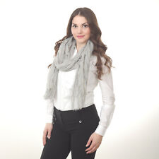 """Pink & Grey Shimmering Checkered Ladies Shawl Wrap Scarf 39"""" x 78"""", Polyester"""