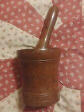 New listing Antique Lignum Vitae Wood 18th Century Mortar & Pestle Primitive Apothecary