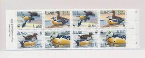 LO37745 Aland 2001 WWF ducks animals fauna birds good booklet MNH