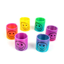 Slinky Smiley Face Springs Rainbow Mini Springs Pinata Party Bag Fillers 2PCS