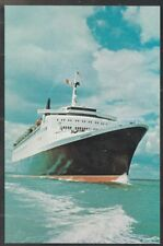 Cunard Line Queen Elizabeth 2 QE2 Underway Advertising Postcard 402