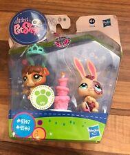 Littlest Pet Shop #2147 & #2148 Sparkle lapin et cochon d'Inde-New in Box