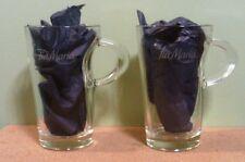 TIA MARIA DISARONNO LATTE IRISH COFFEE PAIR OF HANDLED TALL GLASSES - NEW