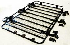 Large Black Steel Roof Rack Rain Gutter Tray Carrier FITS Toyota Land Cruiser