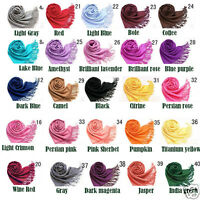 Ladies Pashmina Shawl Scarf  UK Stock Brand New 40 Colour Choices