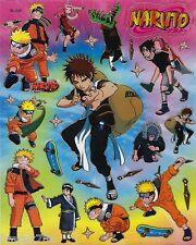 NARUTO IN ACTION SCRAP BOOK STICKERS OR ROOM DECOR HQ  (BUY 5 MIX FREE 1)