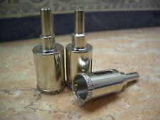"3 pcs 28mm (1 1/8"" inch) THK Diamond coated drill bit hole saw glass tile drills"